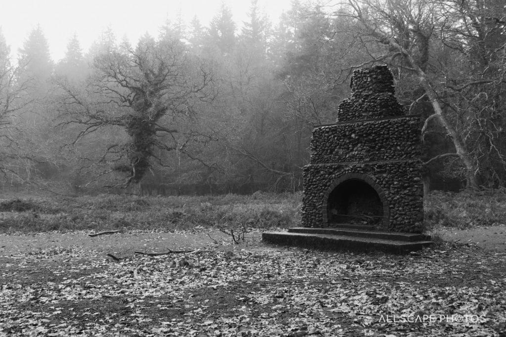 The Eerie Tree and a Fireplace